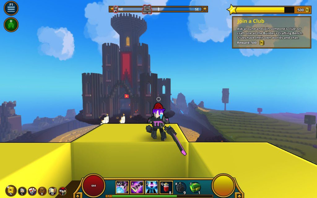 Blocky gameplay in all it's glory. Image captured in-game