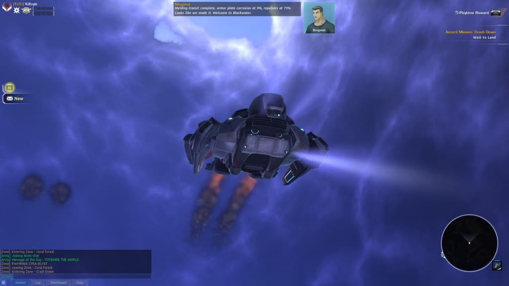 firefall update - dropped for mission