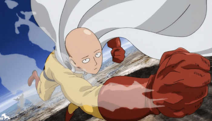 The superhero parody One-Punch Man was easily the most popular anime aired in 2015. Image provided by netoin.com