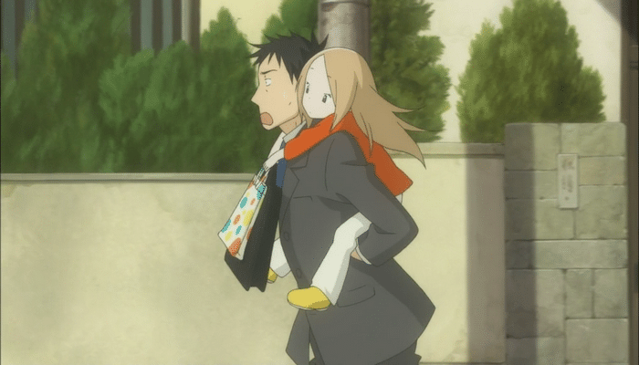 The mild level of conflict allows for the relationship between Daikichi and Rin to shine through. Image provided by netoin.com