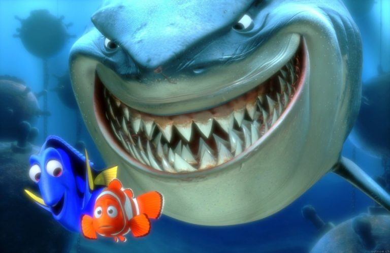 Bruce the Great White Shark in Finding Nemo. Source: