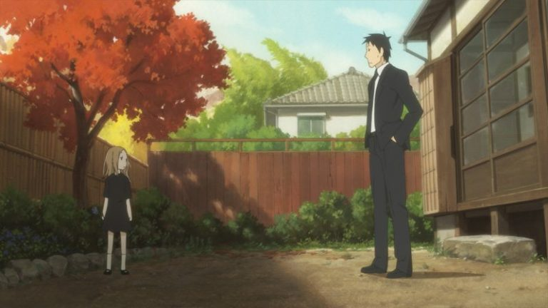 Can Daikichi learn how to take care of Rin? Image provided by usagi-drop.tv
