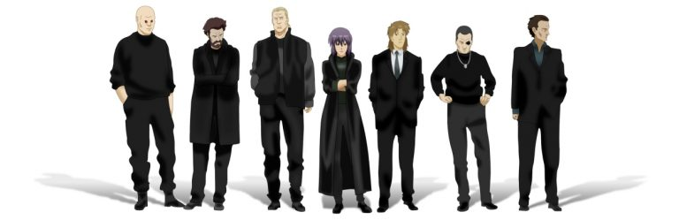 The members of Section 9 have been the face of Ghost in the Shell since its inception. Image provided by aeroni.com
