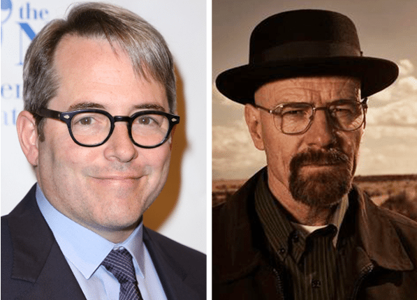 Matthew Broderick (left) Bryan Cranston (right), purewow