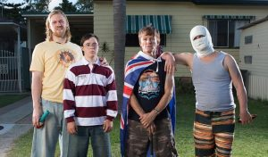 Down Under is a powerful comedy about the Cronulla Riots. Source: ACMI.