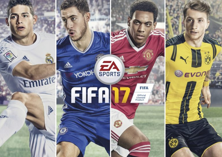 The FIFA 17 front cover. Source: EA Sports.