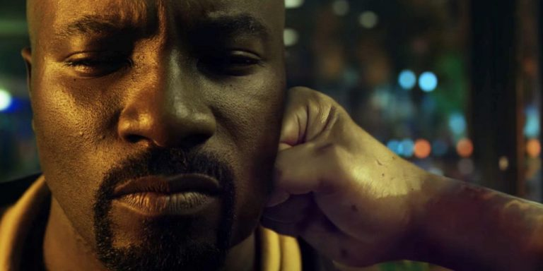 Luke Cage getting punched. Source: Marvel Entertainment