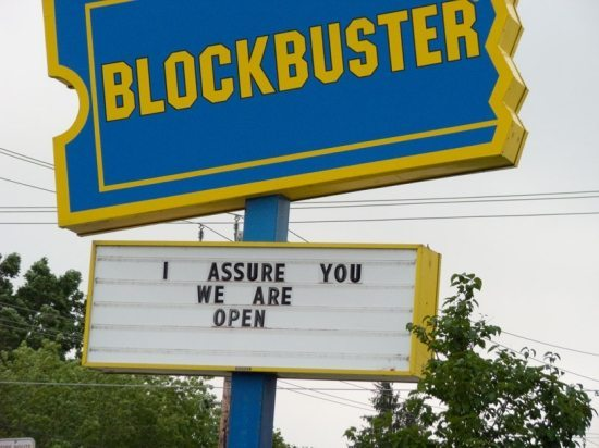 I miss DVD's stores