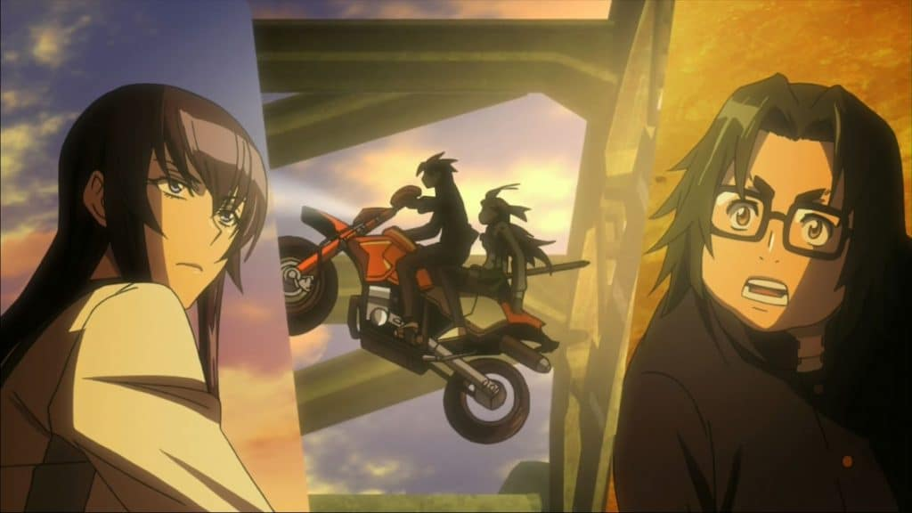 High school of the dead motorcycle jump anime