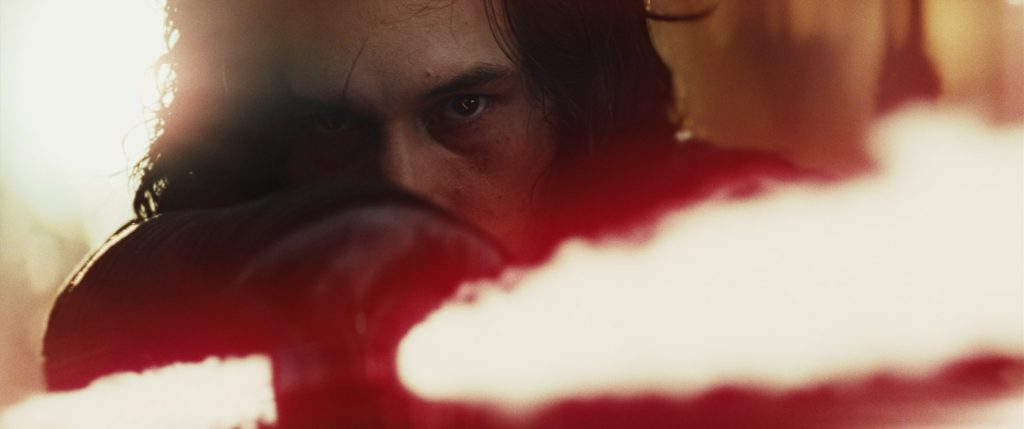 A blood-boiling Kylo Ren ready to fight