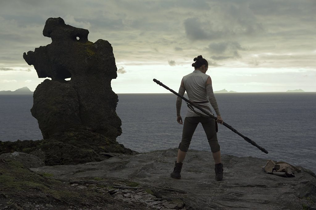 Rey hones her skills on Ahch To