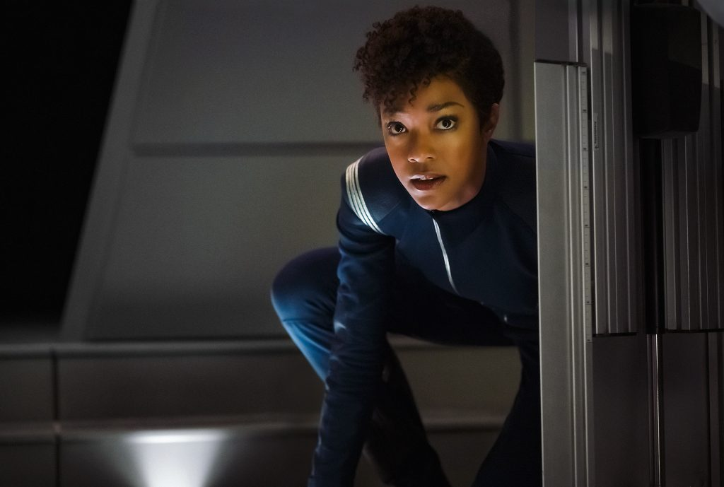 Sonequa Martin-Green as First Officer Michael Burnham. STAR TREK: DISCOVERY