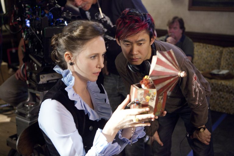 James Wan on set of The Conjuring.