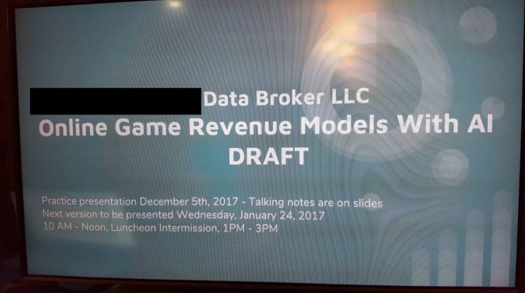 data broker llc presentation