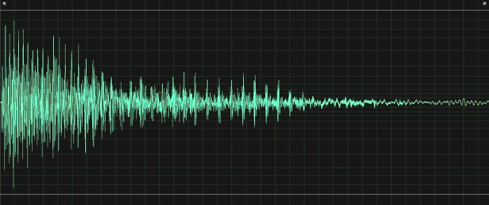 This sound looks blue and black, not green and black.