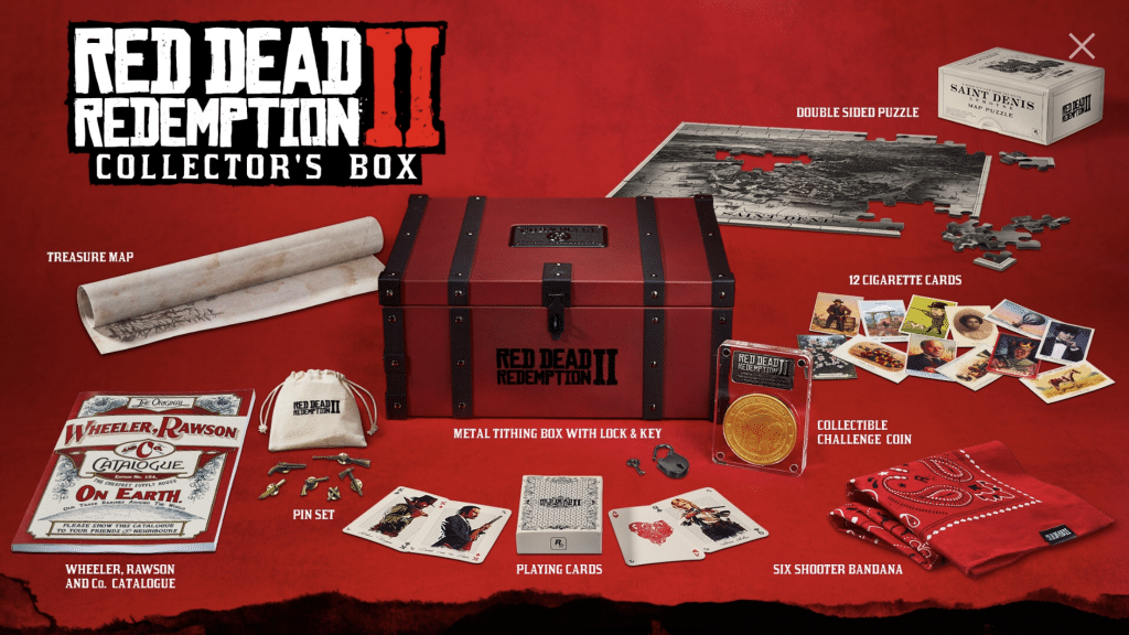 Red Dead Redemption 2 rockstar games collecotr's box