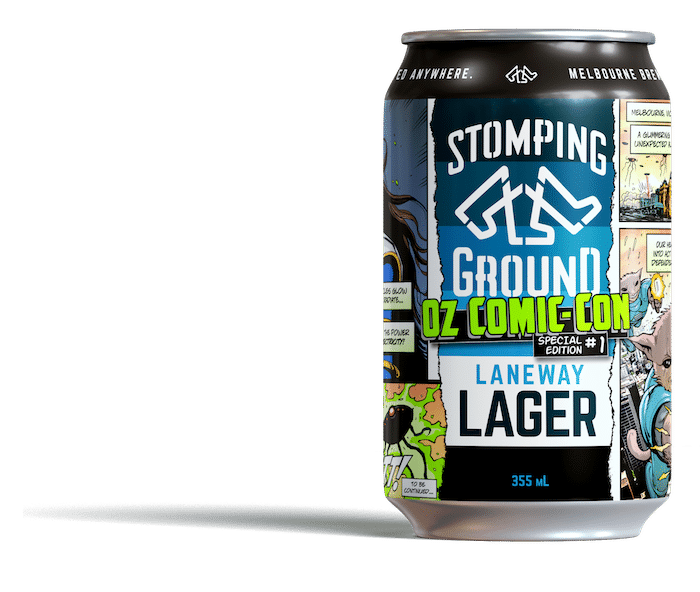 stomping ground brewery comic can
