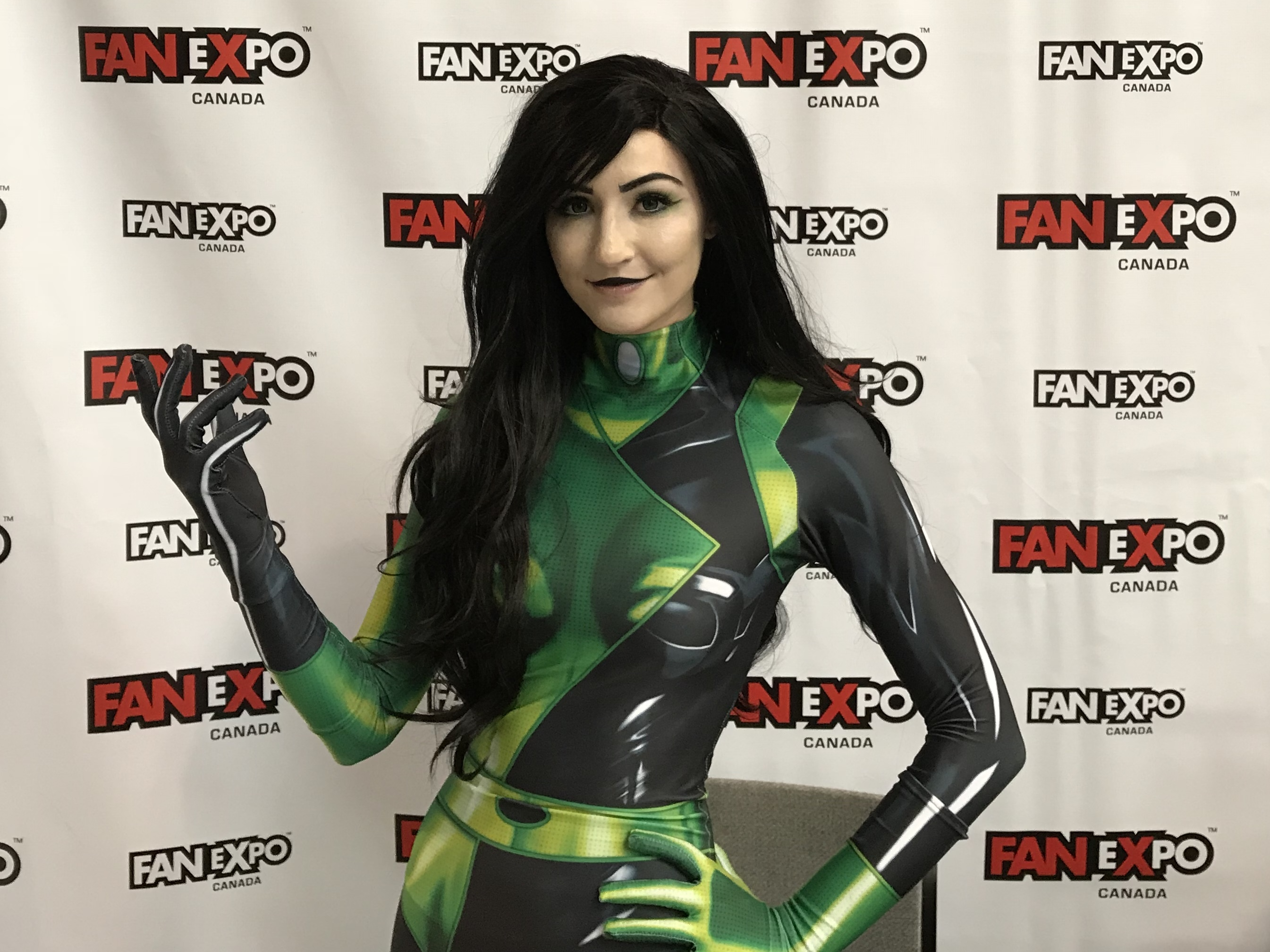 Luxlo Cosplay as Shego from Kim Possible at Fan Expo Canada 2018.