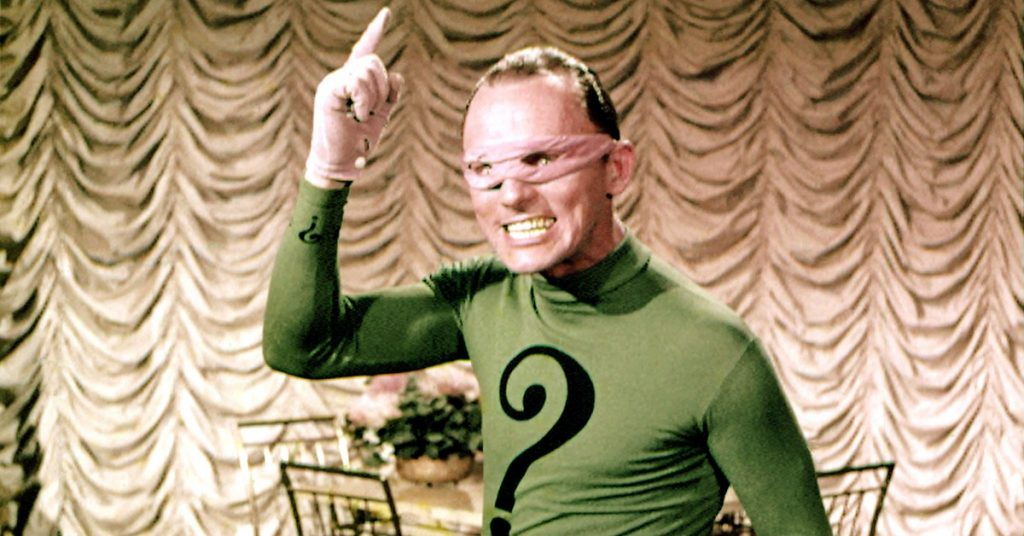 The Riddler in live-action