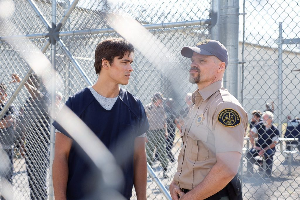 Dick Grayson and Guard-Titans-Fallen-Warner Brothers